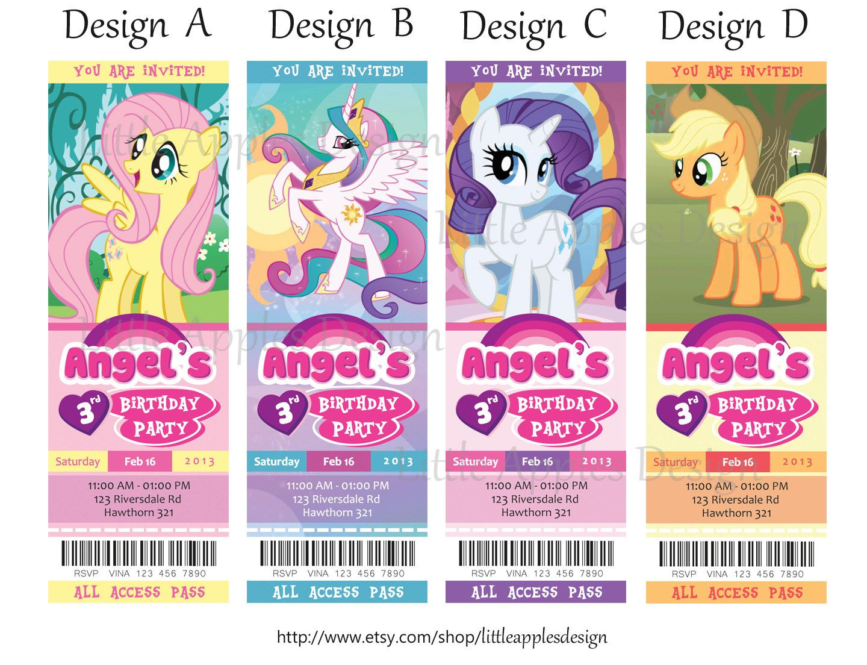 My+Little+Pony+Invitation+/+My+Little+Pony+by+LittleApplesDesign,+$11.00