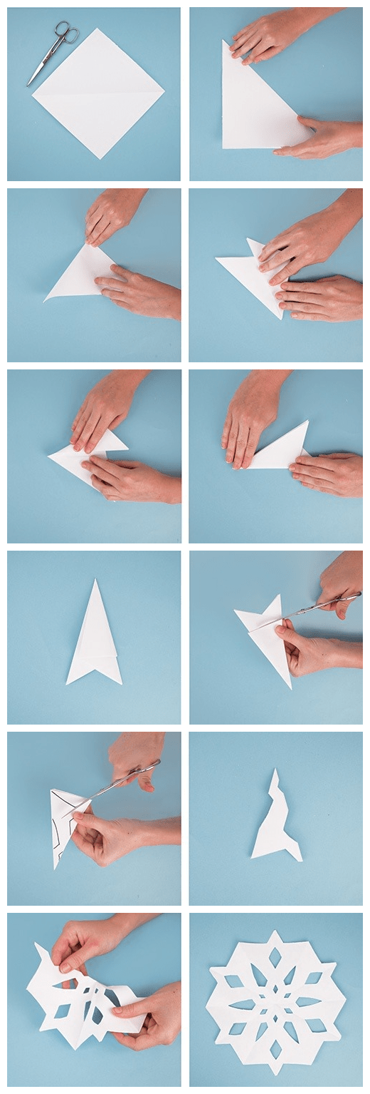 Déco flocon de neige et origami flocon en papier - ClemAroundTheCorner