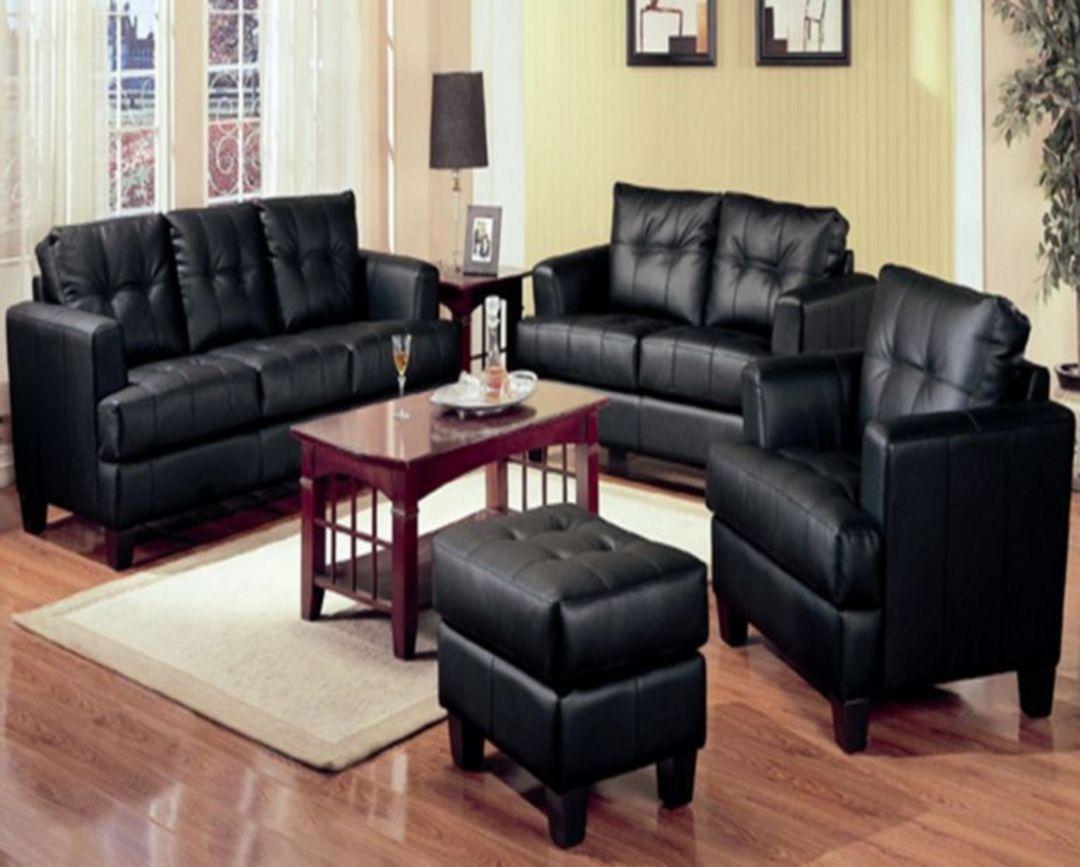 20 luxury black leather living room sofa ideas for