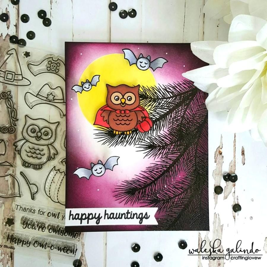 Happy Owloween Stamps Pirate card, Halloween cards