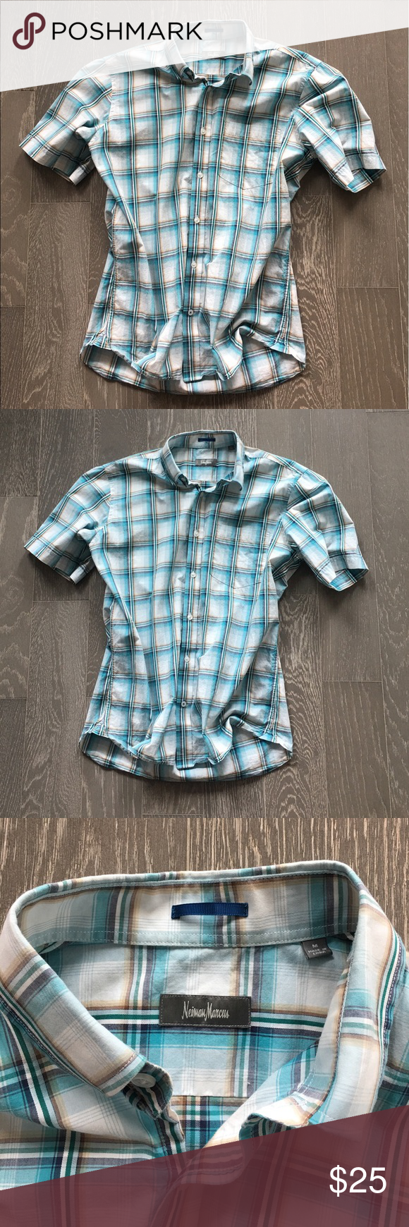 Neiman Marcus M Shirt See photos and other auctions. Thanks! Neiman Marcus Shirts Casual Button Down Shirts