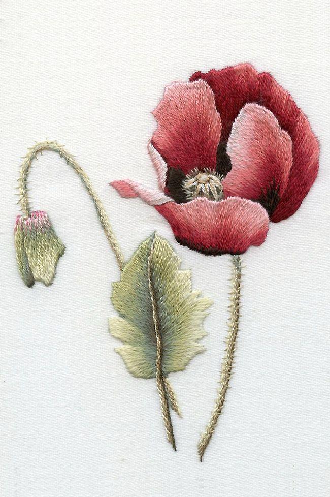 Trish Burr Embroidery | Embroidery | Pinterest | Bordado, Flores ...