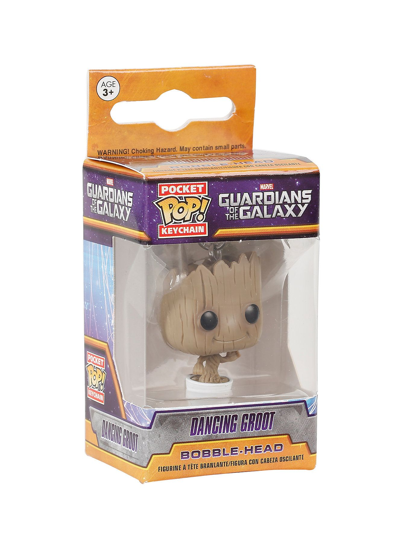 Guardians Of The Galaxy Dancing Groot Figure Funko Pocket Pop Keychain Marvel