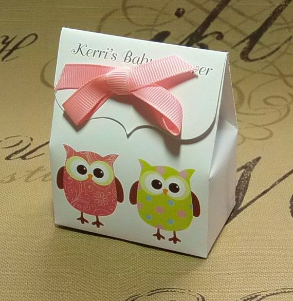 Choice Personalized Owl baby Shower Favor Bags by IllustrationGirl $10 PER 10 BOXES