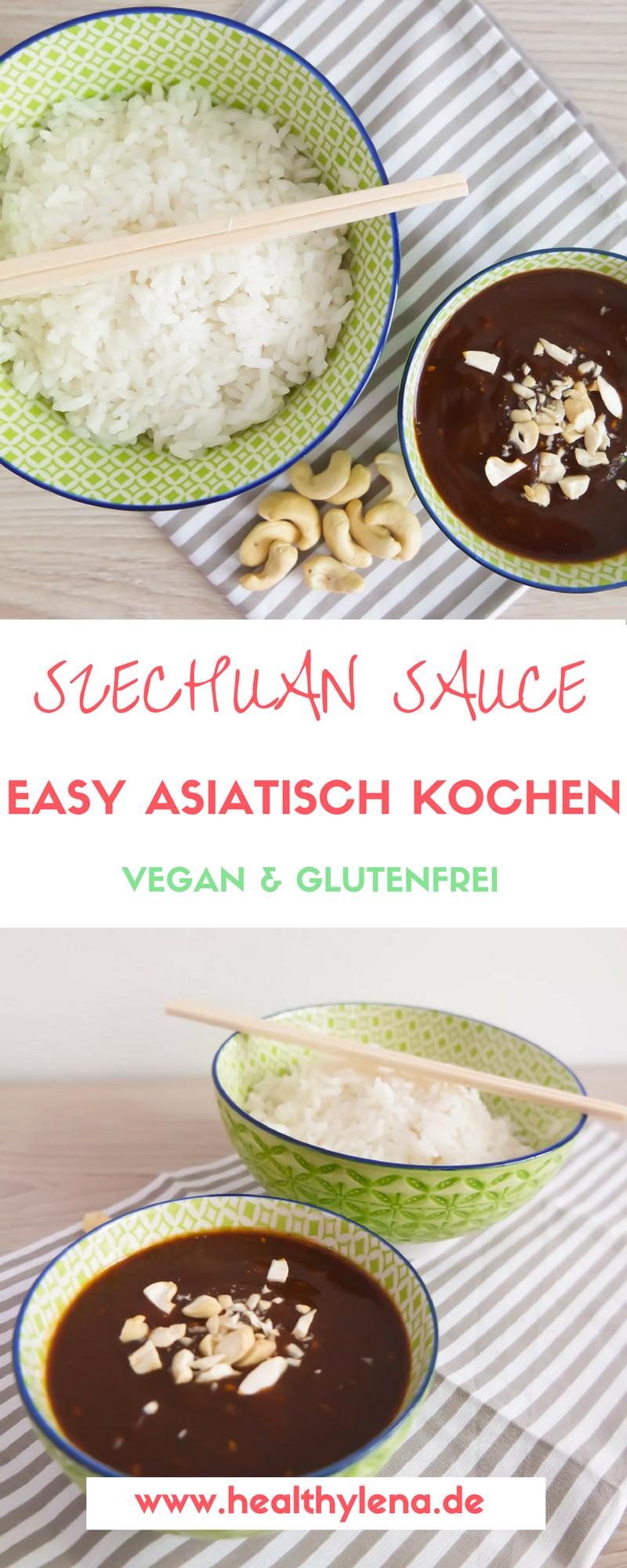 Vegane Szechuan Sauce mit Reis – Asiatische Küche   Vegan ...