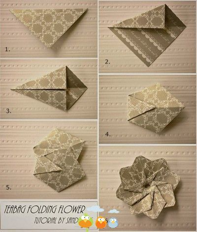 Paper tea bag folding flower diy crafts origami pinterest paper tea bag folding flower diy mightylinksfo