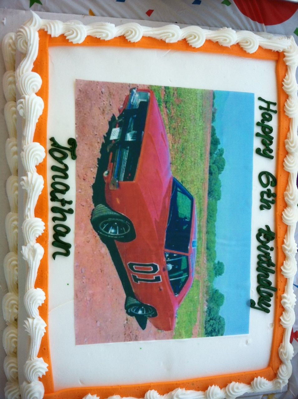 Cant Find A Dukes Of Hazzard Cake Topper Well Look No Further The General Lee Looks Awesome