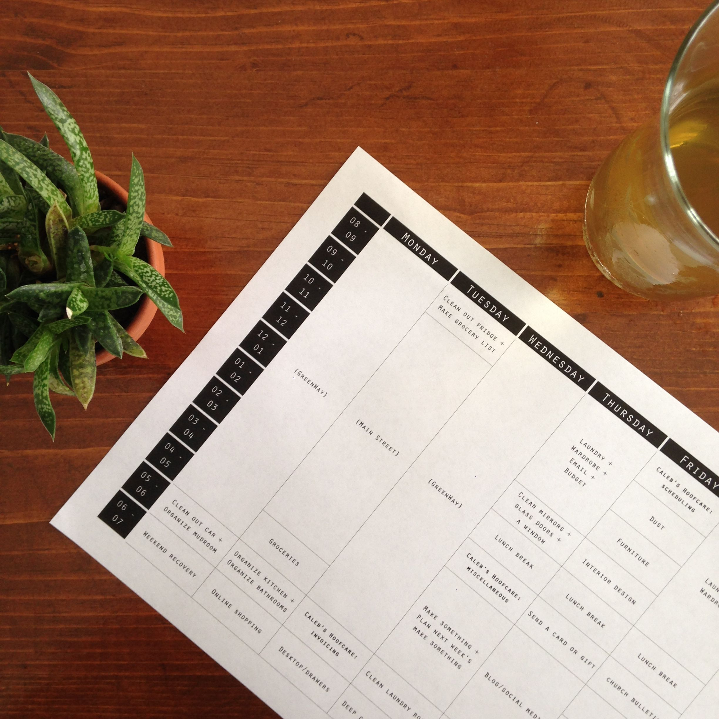 Time Management Chart Weekly Planner Worksheet My Time