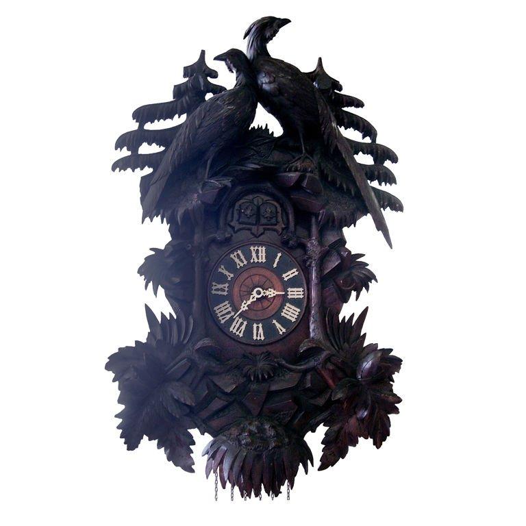 1stdibs Walnut Cuckoo Black Forest German Wall Clock Cuckoo Clock Black Forest Century Black