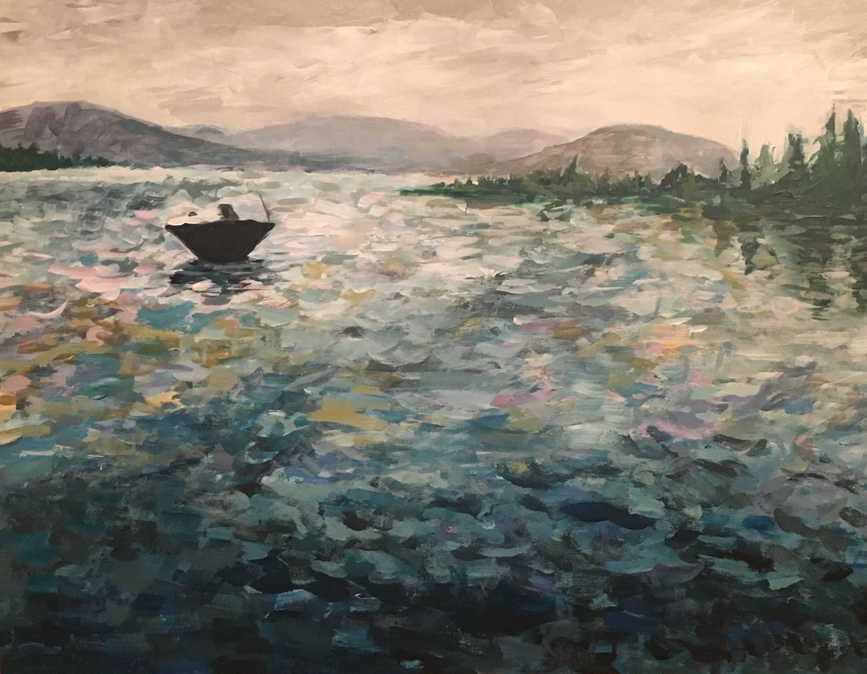 A Moody Impressionistic Landscape Painting Of The Lake District In The English Countryside Definechase Painter Painting Landscape Paintings City Art