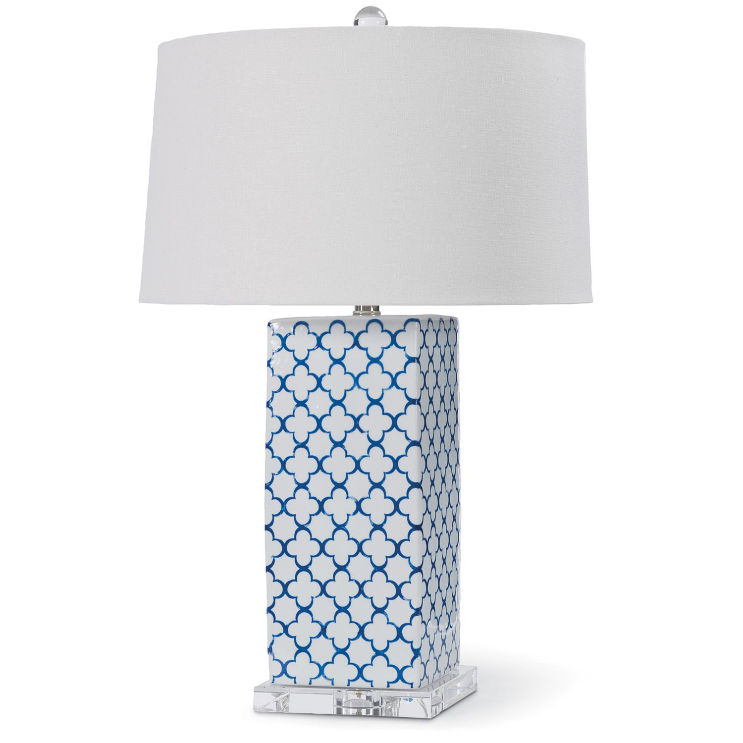 **Very Bright 3 Way Bulb!!** Spencer Blue Table Lamp |