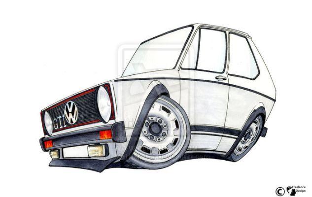 Vw Golf Gti Mk1 By J3d1j4k455 Cars Illustrations