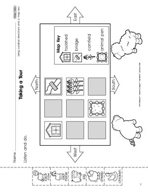 math worksheet : cardinal directions activities for kindergarten  buscar con  : Kindergarten Map Skills Worksheets