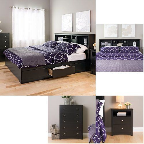 Prepac Sonoma 4 Piece King Bedroom Set Black King Bedroom Sets