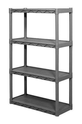 Plano 4 Shelf Resin Storage Unit 34 1 4 W X 56 1 4 H X 14 1 4 D For Storage Unit Freestanding Storage Shelves