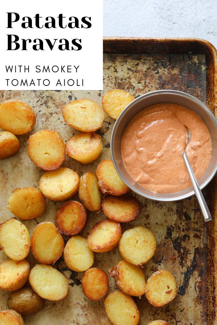 Oven-Roasted Patatas Bravas with Smokey Tomato Aioli - Craving California