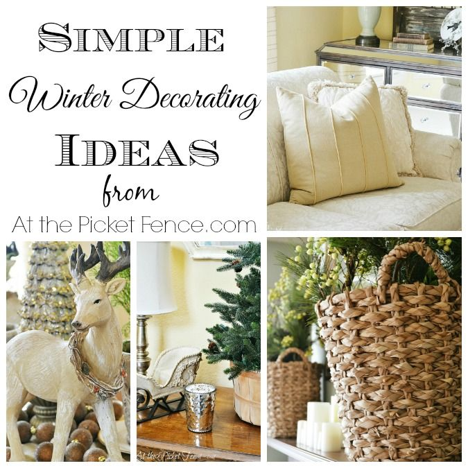 Simple Winter Decorating Ideas - At The Picket Fence  sc 1 st  Pinterest & Simple Winter Decorating Ideas | Winter Fences and Decorating