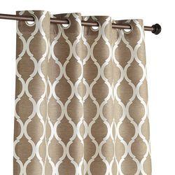 "Moorish Tile Taupe 96"" Curtain"