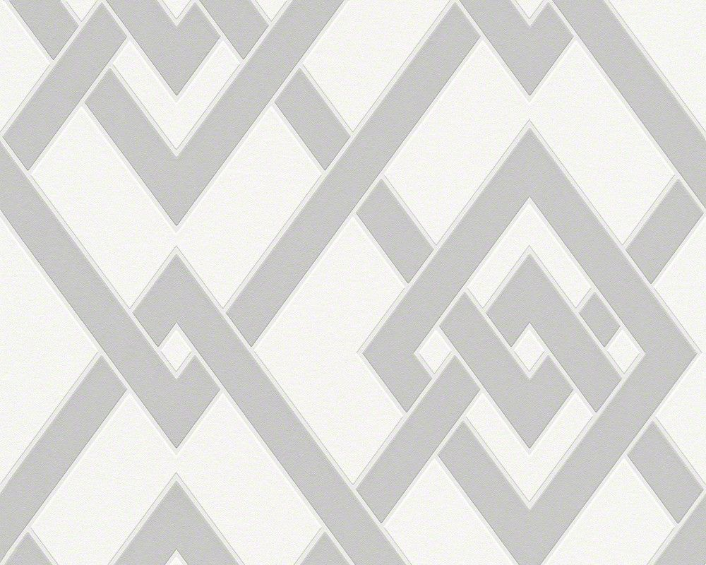 Graphic Wallpaper In Grey And White Design By BD Wall Graphic