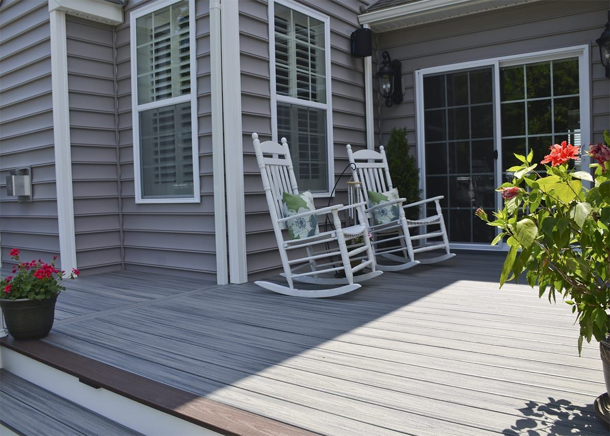Custom trex deckporch downingtown pa in 2020 deck colors