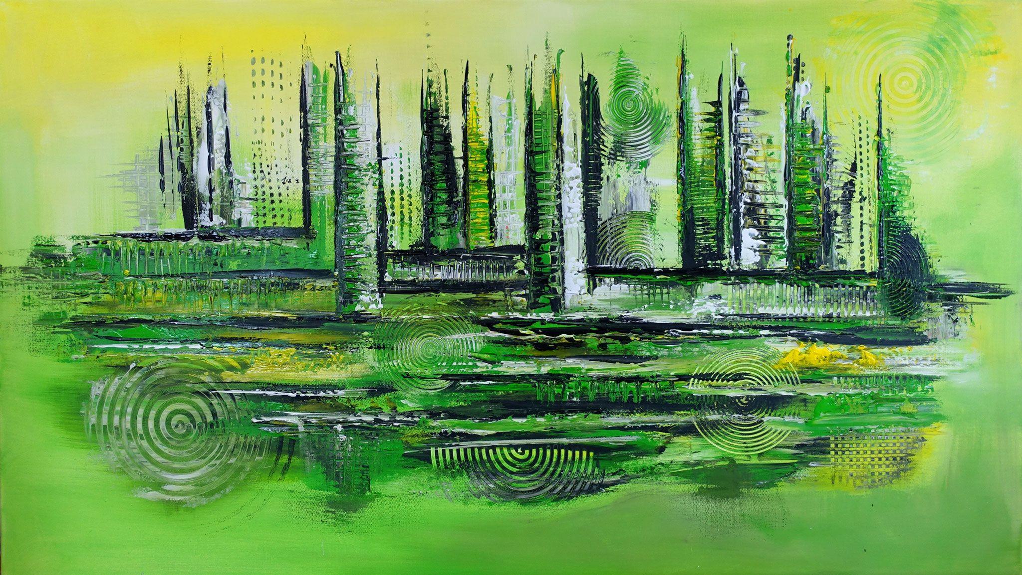 abstraktes leinwandbild grun grau unikat original gemalde ori abstrakte malerei leinwandbilder abstrakt geometrische abstraktion künstler kunst rot schwarz