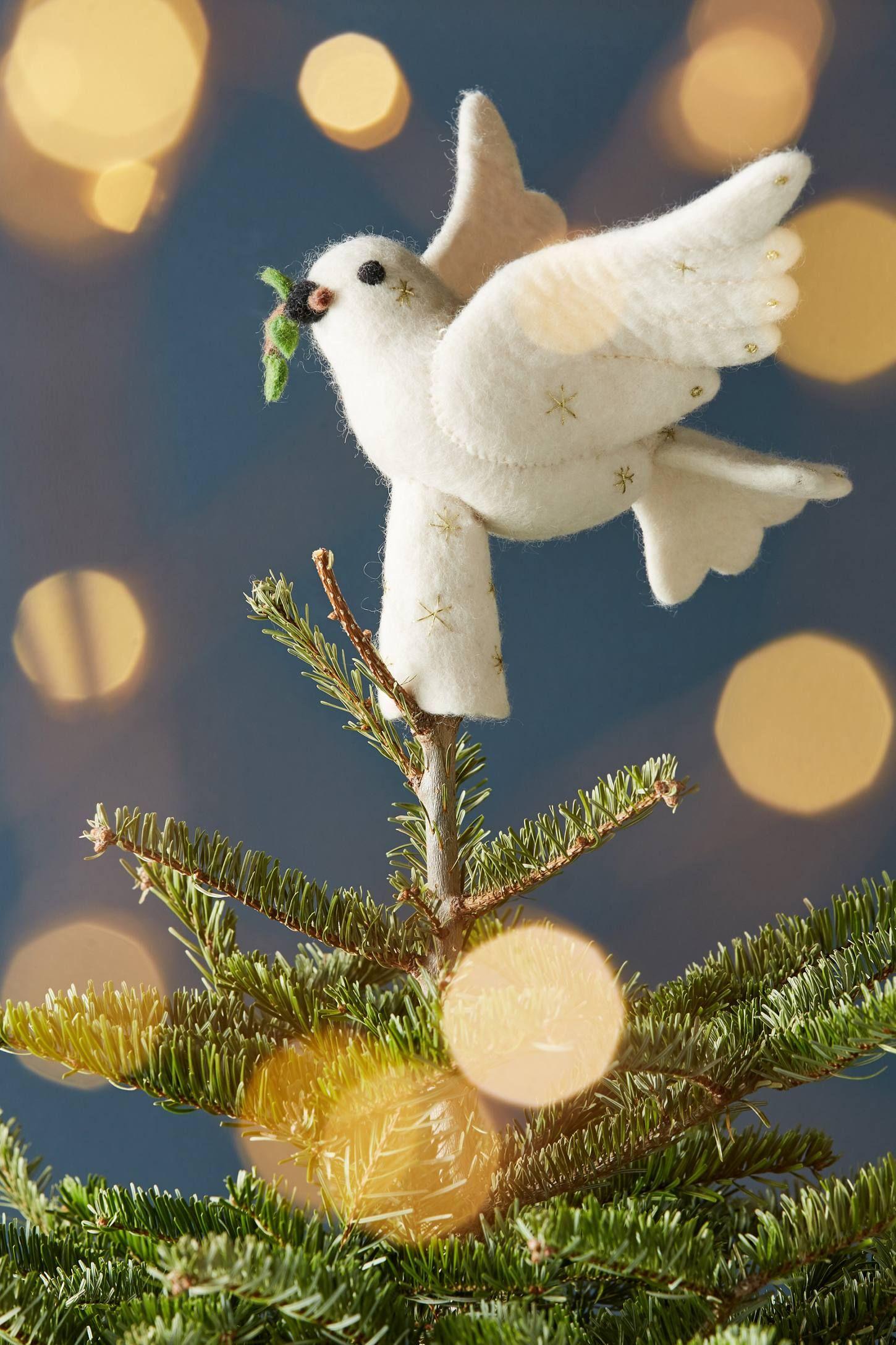 Felted Dove Tree Topper from Anthropologie | Christmas | Pinterest