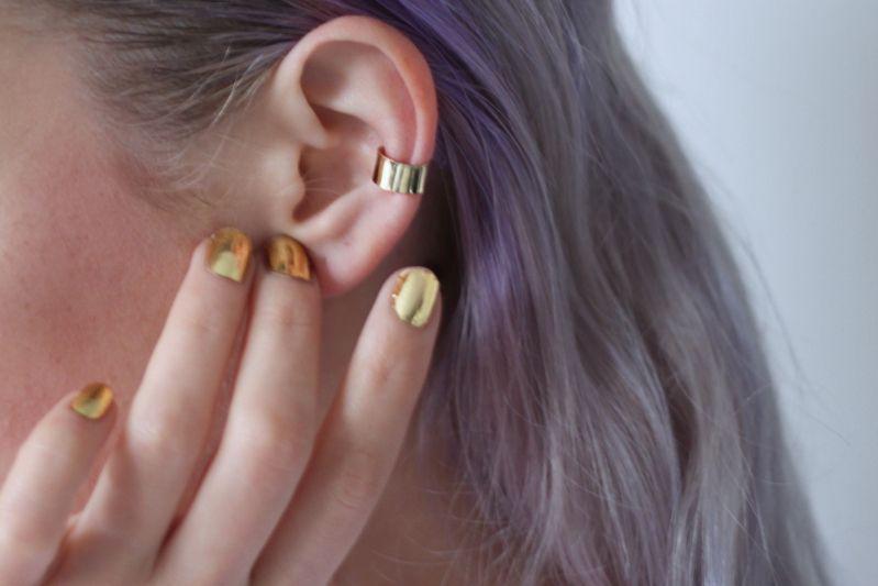Golden nail foil from Sephora