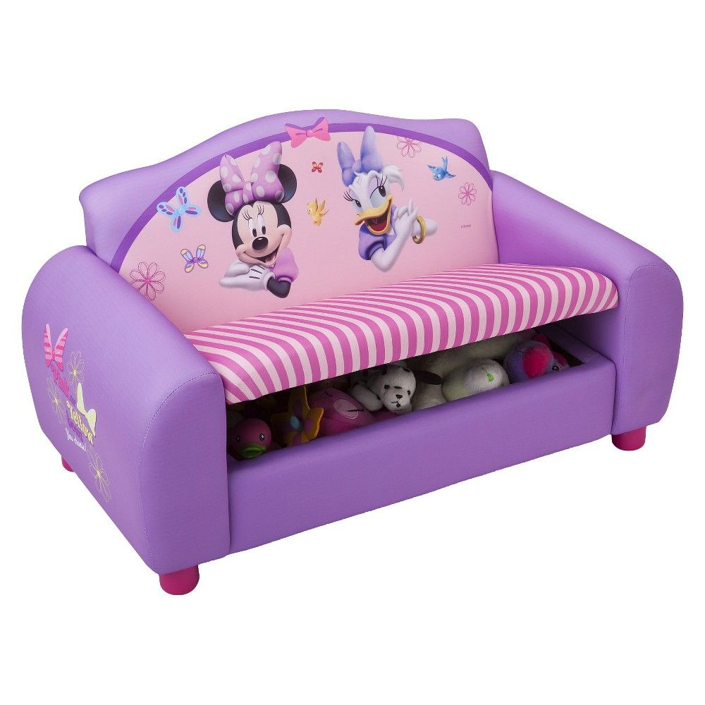 Delta Children Character Toddler Upholstered Sofa Minnie Mouse