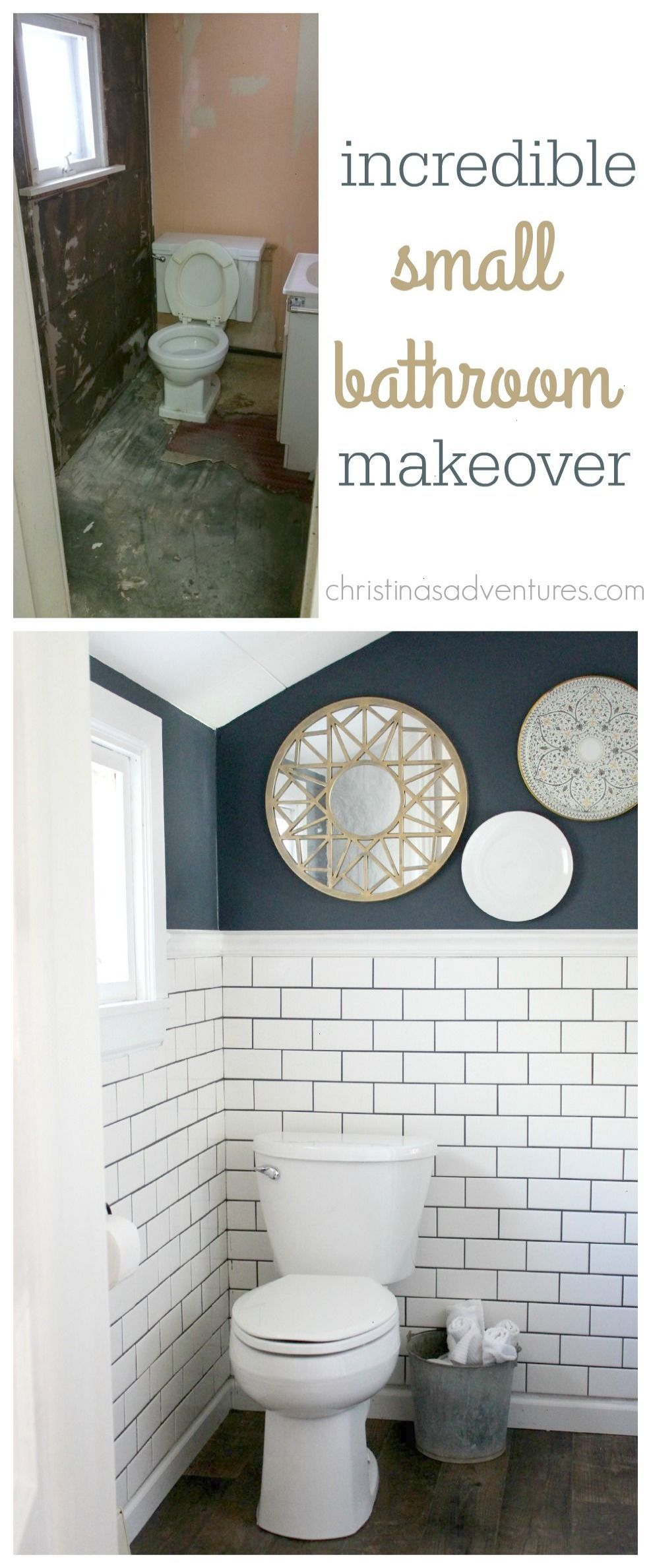 Woah One Of The Best Small Bathroom Transformations I Ve Ever Seen You Have To See All Of The Deta Small Bathroom Small Bathroom Makeover Bathroom Makeover