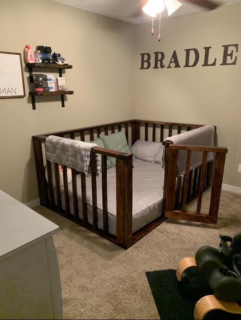 Full size Floor bed in 2020 Floor bed frame, Toddler