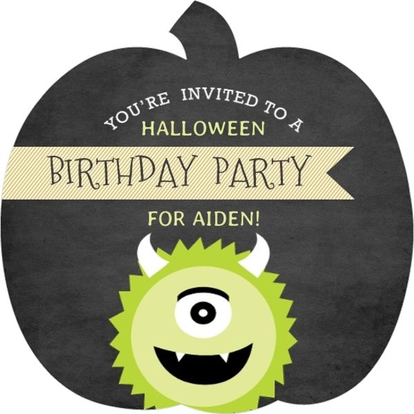 Green Monster Halloween Birthday Party Invitation halloween bday - best of invitation birthday party text