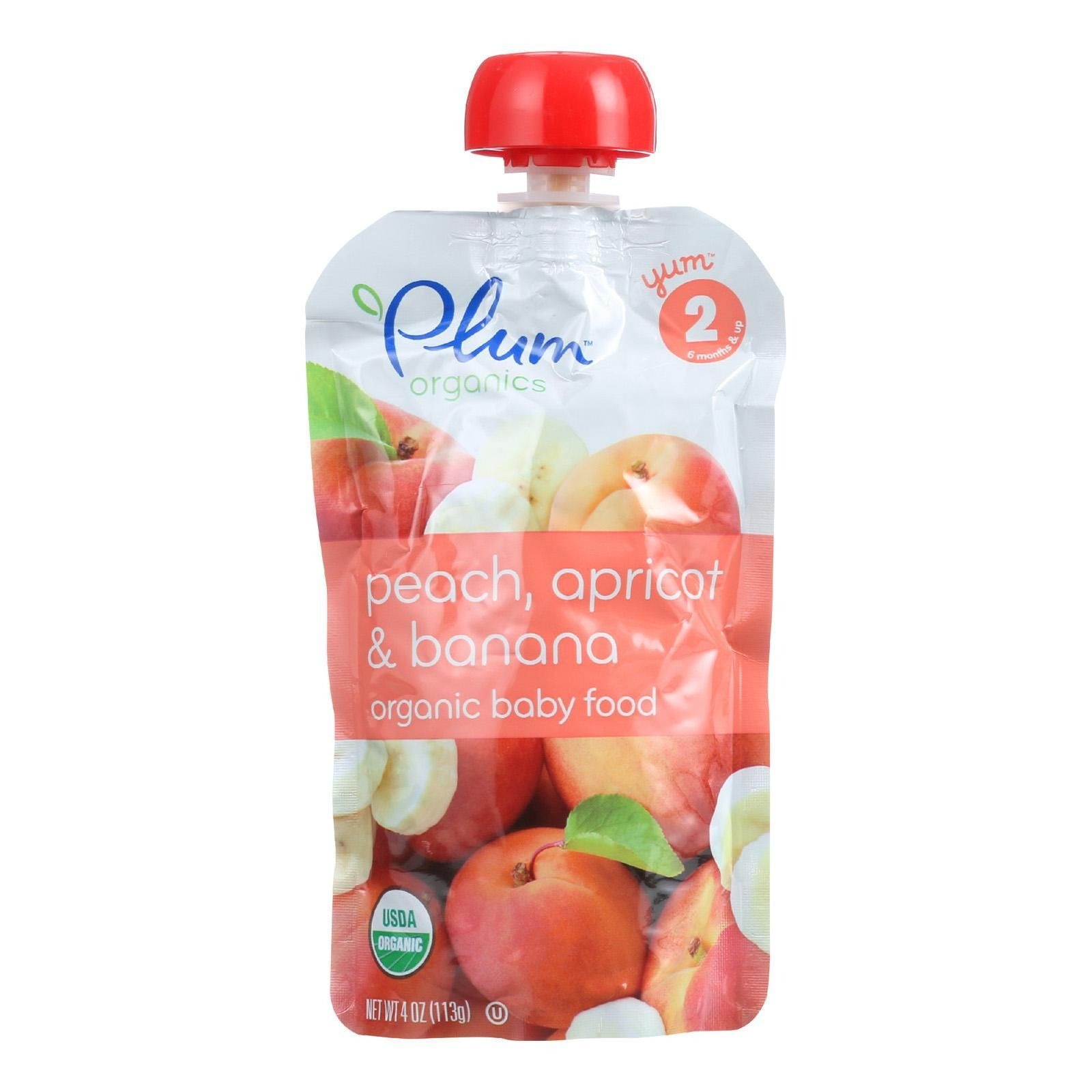 Plum organics baby food organic apricot and banana