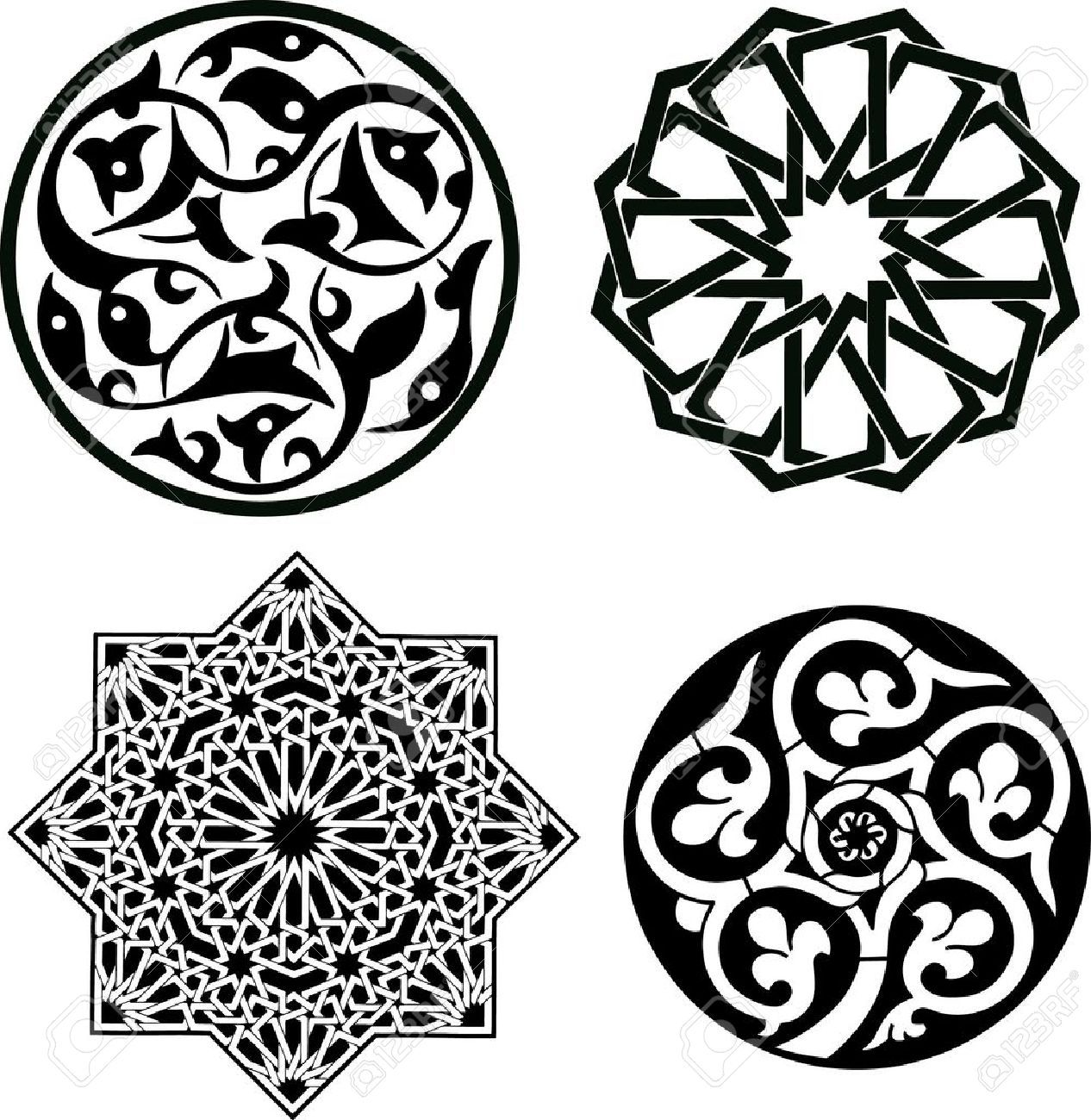 9354317 Islamic Ornament Pattern Stock 1266
