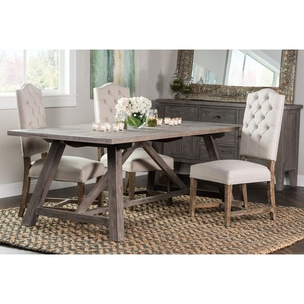 Kosas Home Hand Crafted Aubrey Ash Reclaimed Pine 86-inch Dining ...