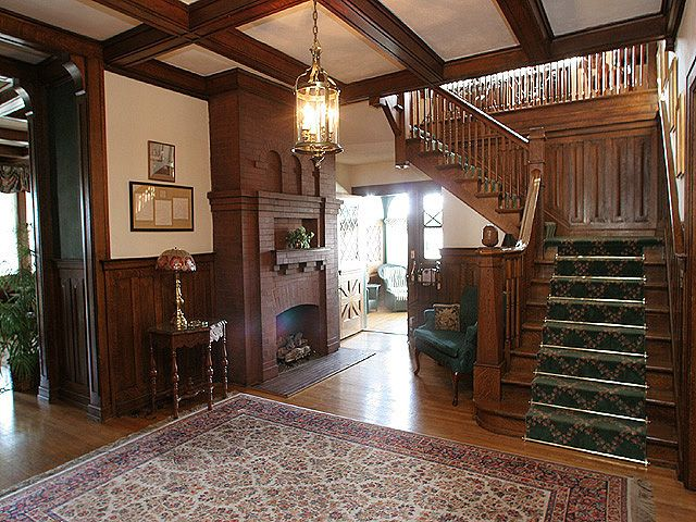 Victorian Foyer Jr : Victorian era foyer shaffner house historic inn details