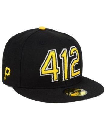sports shoes 5dea1 9028b New Era Pittsburgh Pirates Area Code 59FIFTY Fitted Cap - Black 7 1 8
