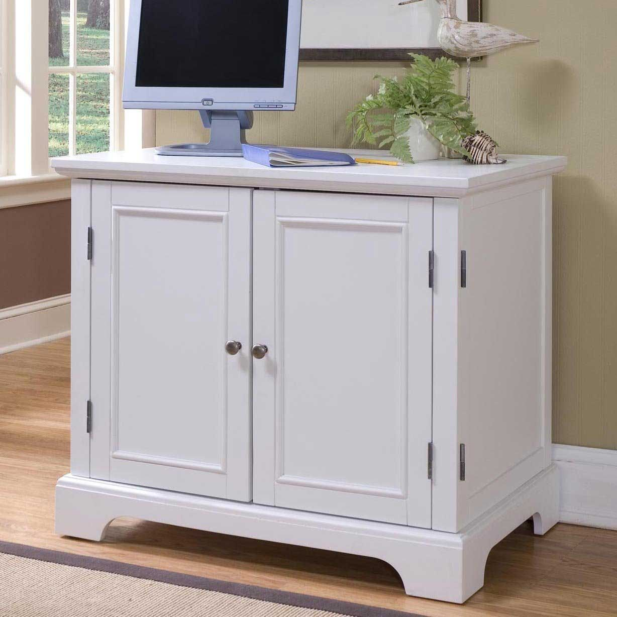 home styles naples compact computer armoire clear the clutter in your home office with the home styles naples compact computer armoire