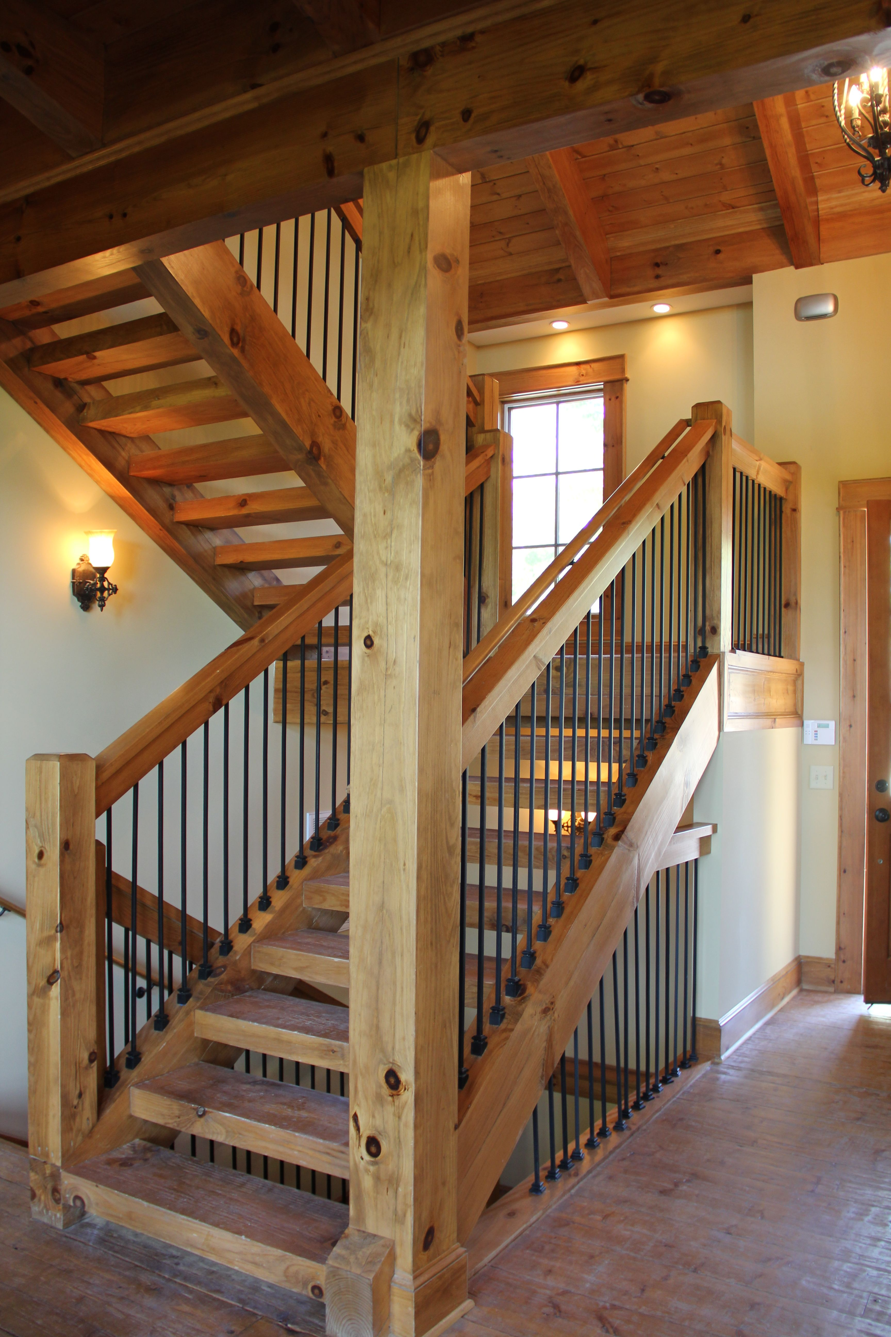 Post And Beam Stairway Vpc Projects Pinterest