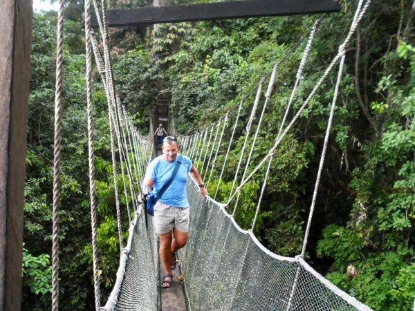 man walking over canopy bridge in Borneo & man walking over canopy bridge in Borneo | Borneo | Pinterest ...