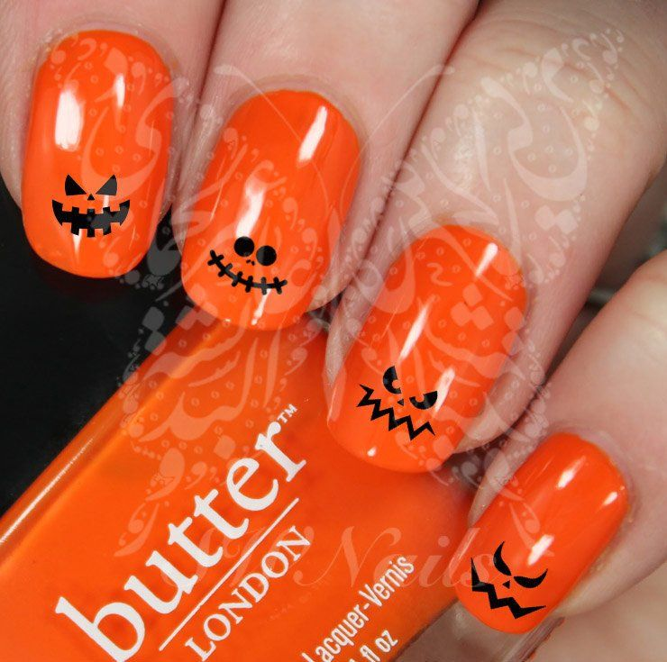 Halloween Nail Art Scary Faces Water Decals | Scary faces, Scary and ...