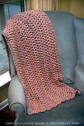 Ravelry: Simple Scalloped Shawl pattern by Kelly Surace