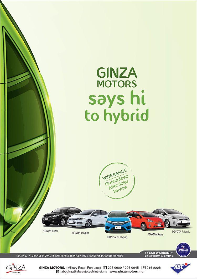 Ginza Motors Discover The Latest Hybrid Range Tel 206 9900