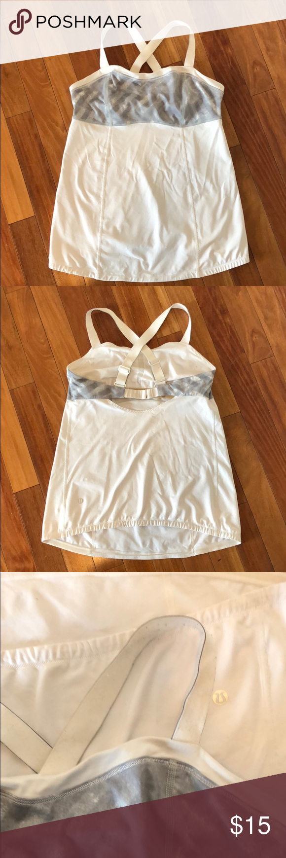 3164c39aef Lululemon Top Workout tank with built in bra. Please note pilling on straps  and small