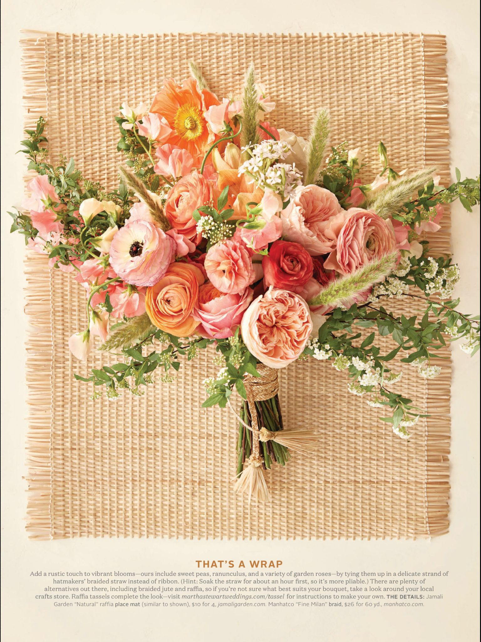 """Woven Together"" from Martha Stewart Weddings, Summer 2018 ..."