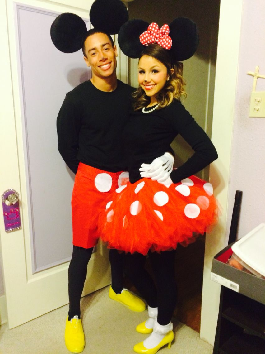 couples costume diy mickey and minnie mouse autumn inspiration pinterest fasching kost m. Black Bedroom Furniture Sets. Home Design Ideas