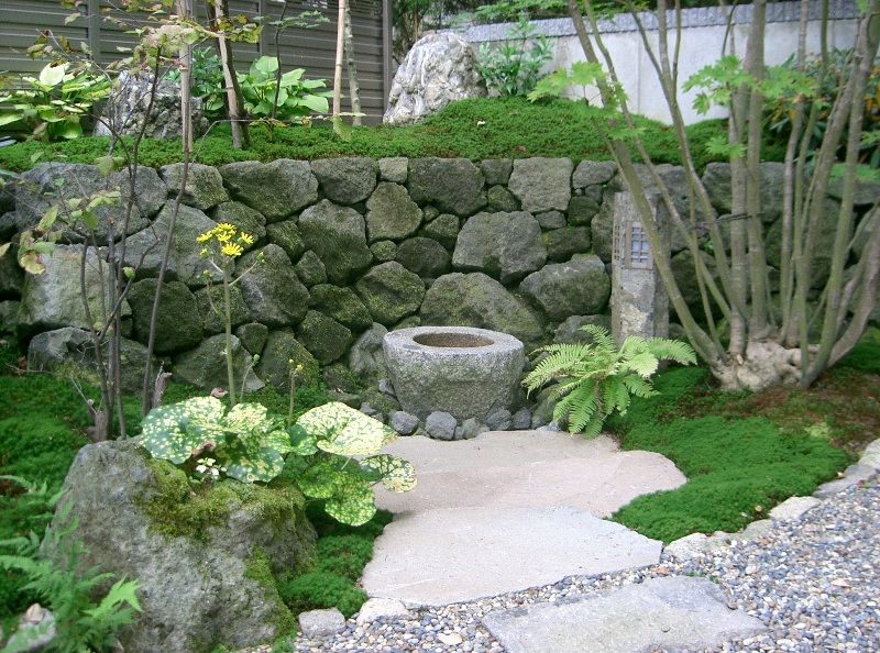 宮城県蔵王町・造園、植木のことなら竹鳳園 造園工事施工例 木漏れ日の中の蹲