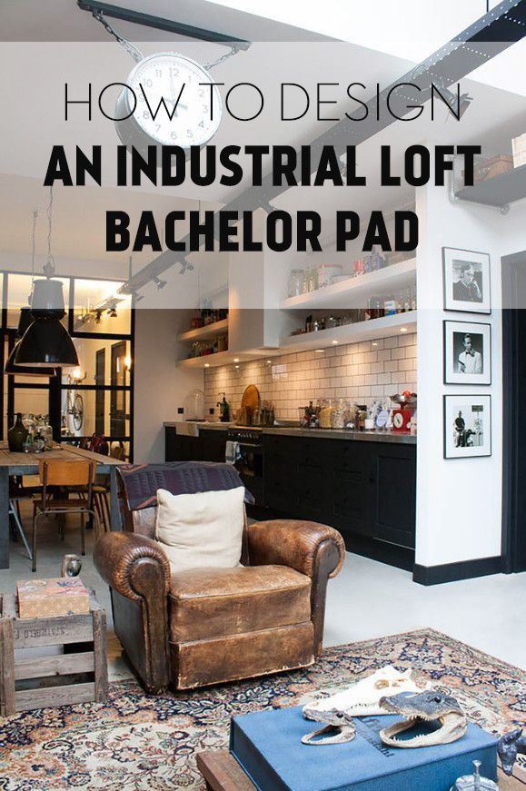 industrial bachelor loft get the look kathy kuo home i am a girl and married but this. Black Bedroom Furniture Sets. Home Design Ideas