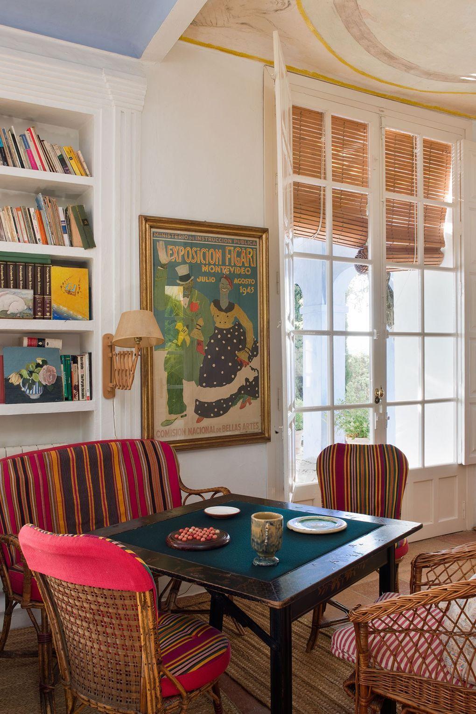 Photo of Architect Mario Connio's azure Andalucian farmhouse