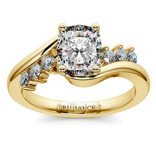 Classic metal, stunning diamond brilliance: Discover sparkle with the new Swirl Style Diamond Engagement Ring in beautifully warm Yellow Gold! http://www.brilliance.com/engagement-rings/swirl-style-diamond-ring-yellow-gold