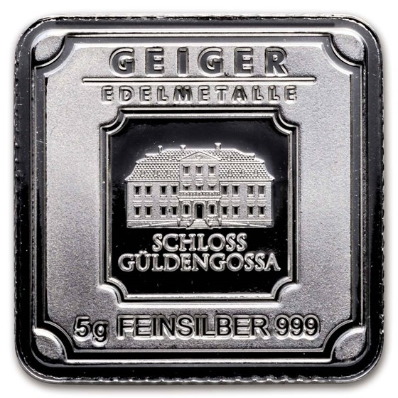 5 Gram Silver Bar Geiger Edelmetalle Original Series Bar For Sale Fractional Less Than 1 Oz Silver Bars Apmex Geiger Silver Bars Bar Displays Silver Investing